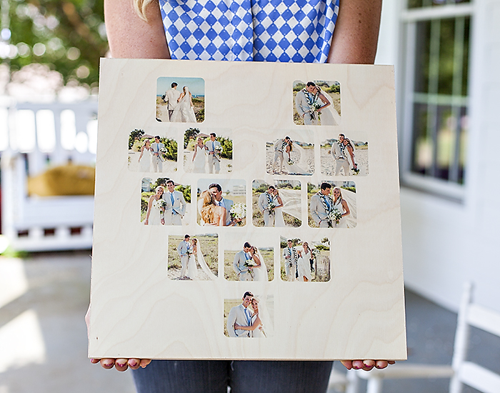 Pictured above: 16×16 CollageBoard, Heart Template Printed image by @benfinch