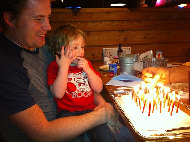 Todd's birthday, January 2012