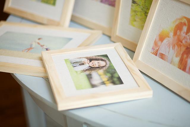 Framed Burlap Prints