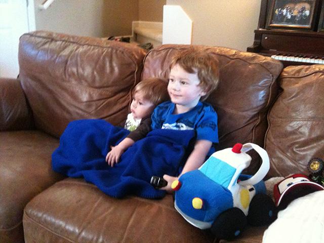 Boys Watching TV