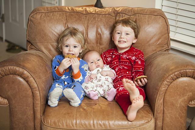 Kids in jammies