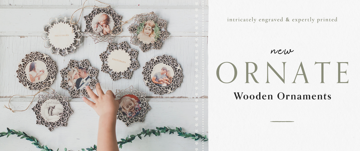 New! Ornate Wooden Ornaments | Intricately engraved and expertly printed