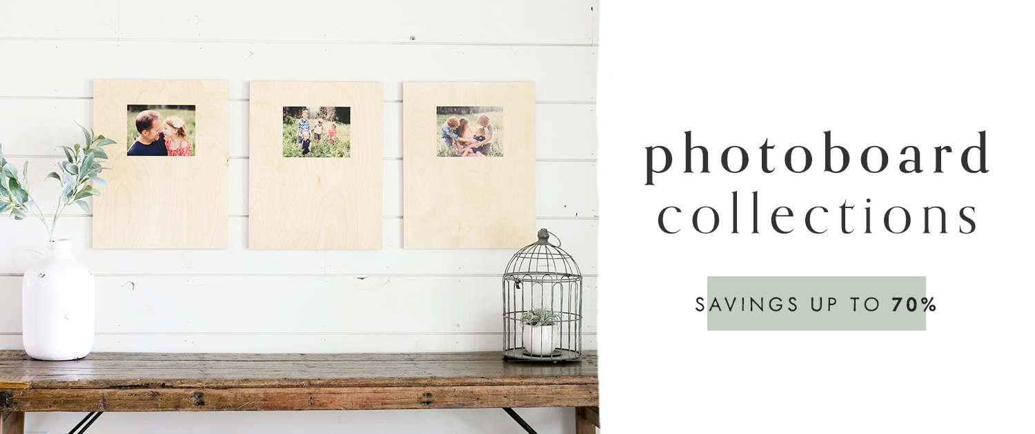 PhotoBoard Collections | Savings up to 70%