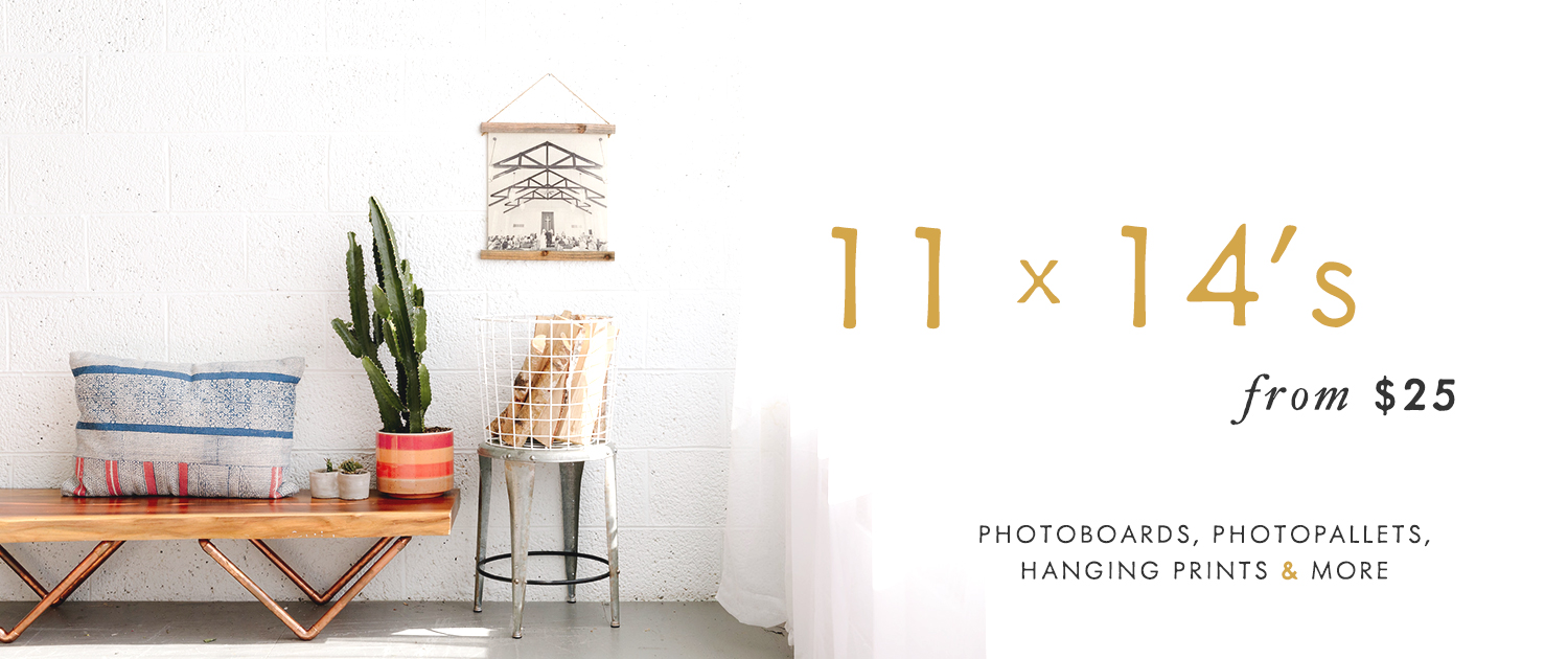 11x14s from $25 | PhotoBoards, PhotoPallets, Hanging Prints and More