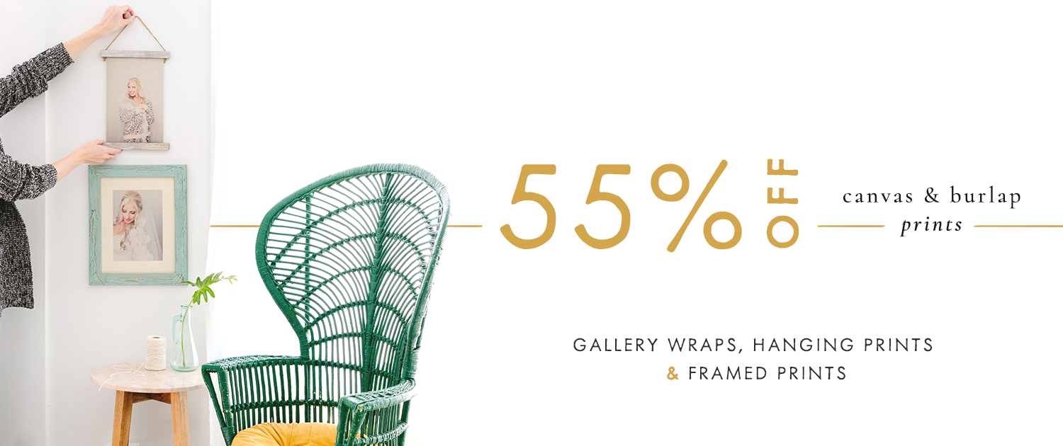 Gallery Wraps, Hanging Prints and Framed Prints | 55% off Canvas and Burlap Products