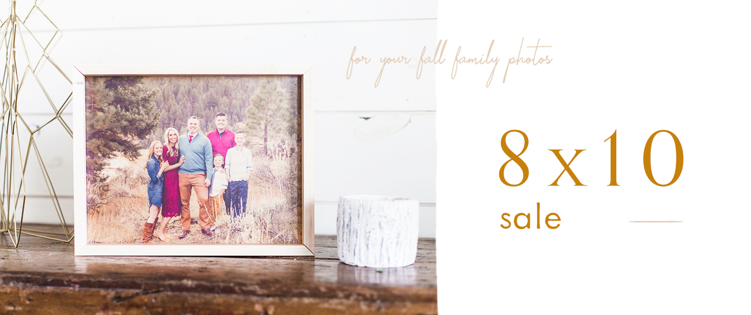 For your fall family photos   8x10 Sale