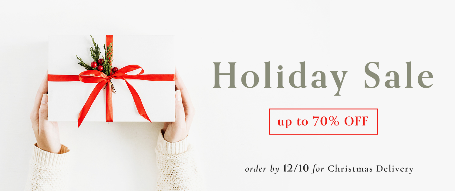Holiday Sale | Up to 70% off | Order by 12/10 for Christmas Delivery