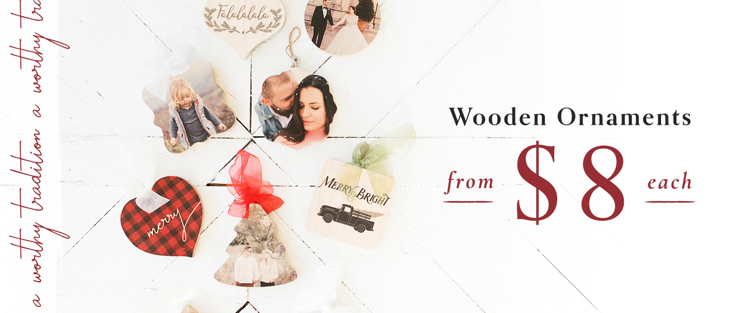 A Worthy Tradition | Wooden Ornaments from $8 each
