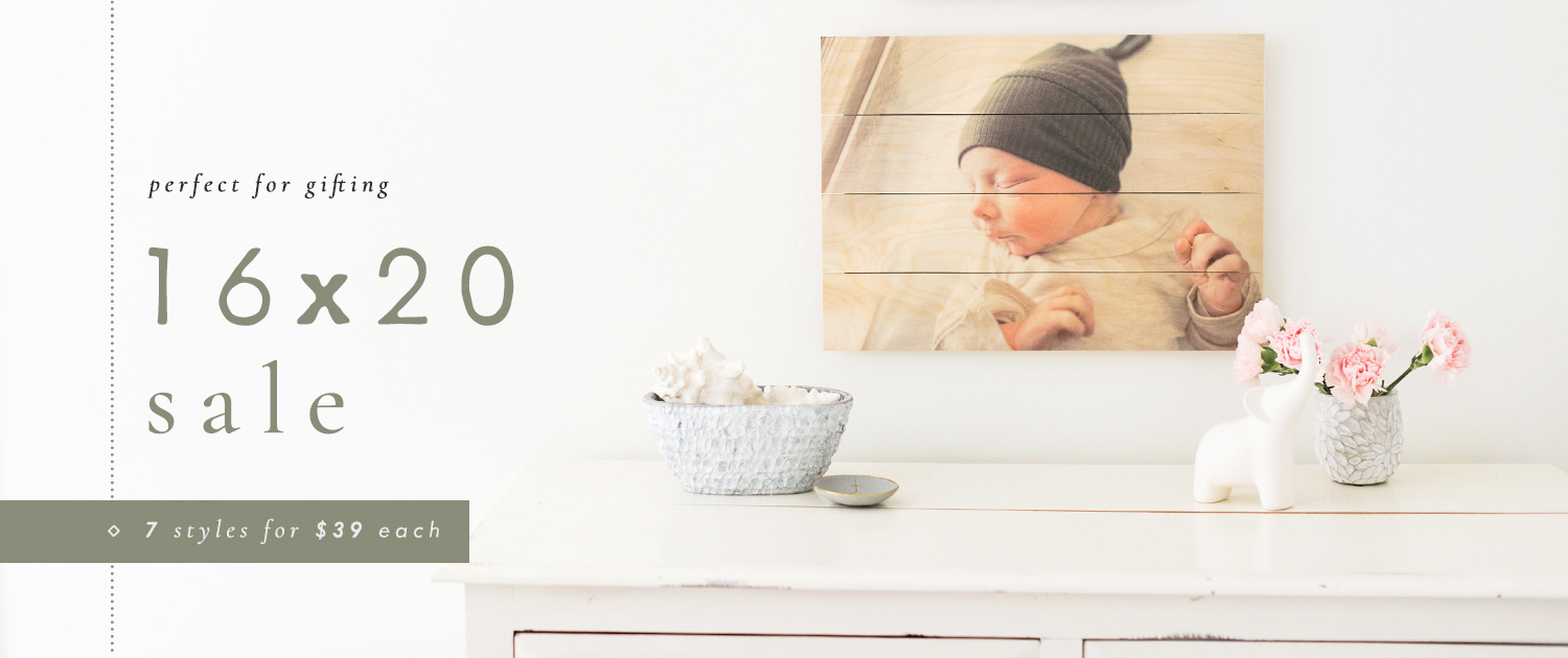 Perfect for Gifting | 16x20 Sale | 7 Styles for $39 each