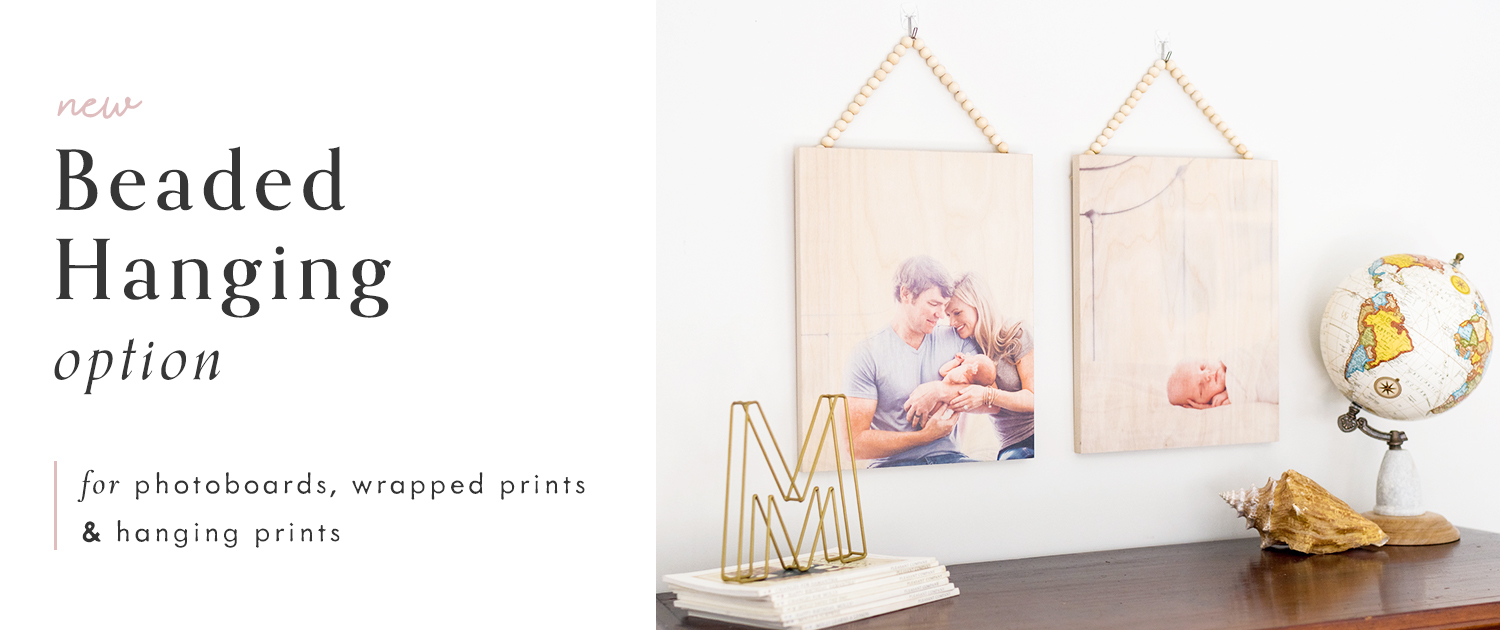 New Beaded Hanging Option! | For PhotoBoards, Wrapped Prints and Hanging Prints