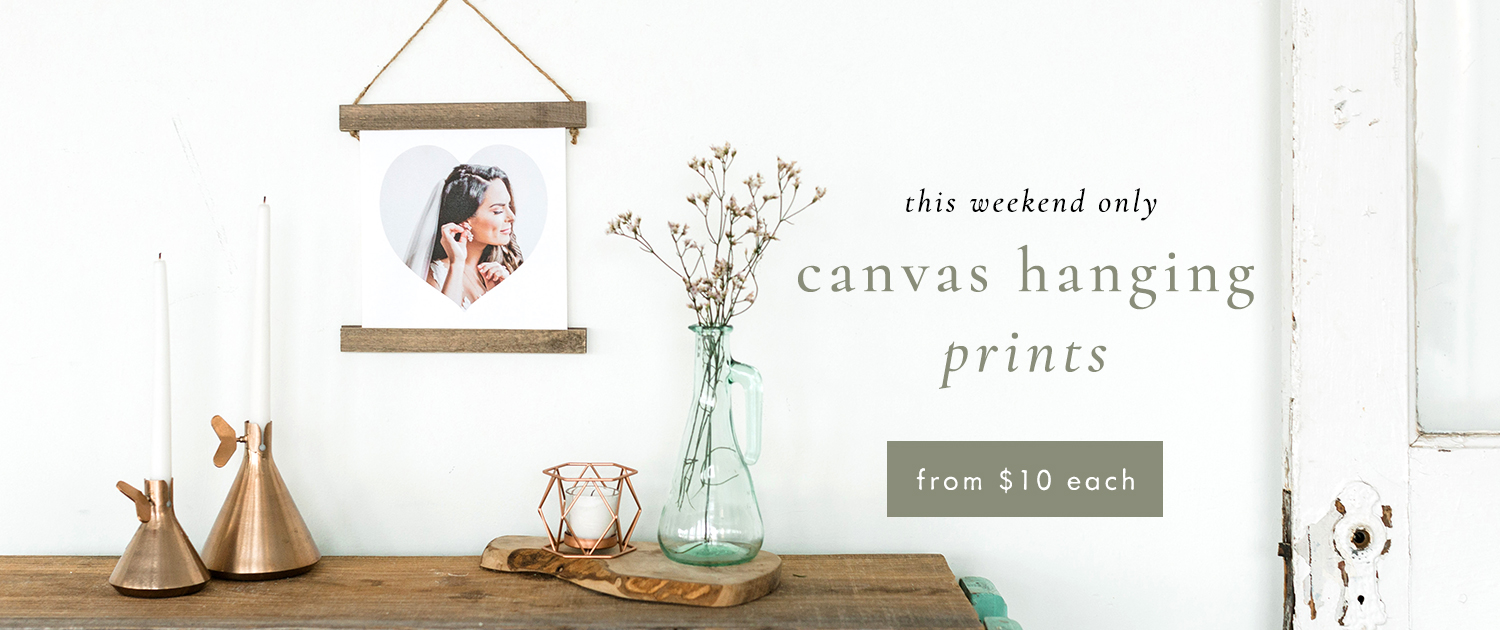 This weekend only! | Canvas Hanging Prints from $10 each