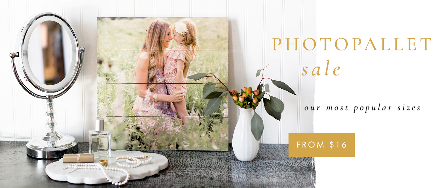PhotoPallet Sale | Our most popular sizes | From $16