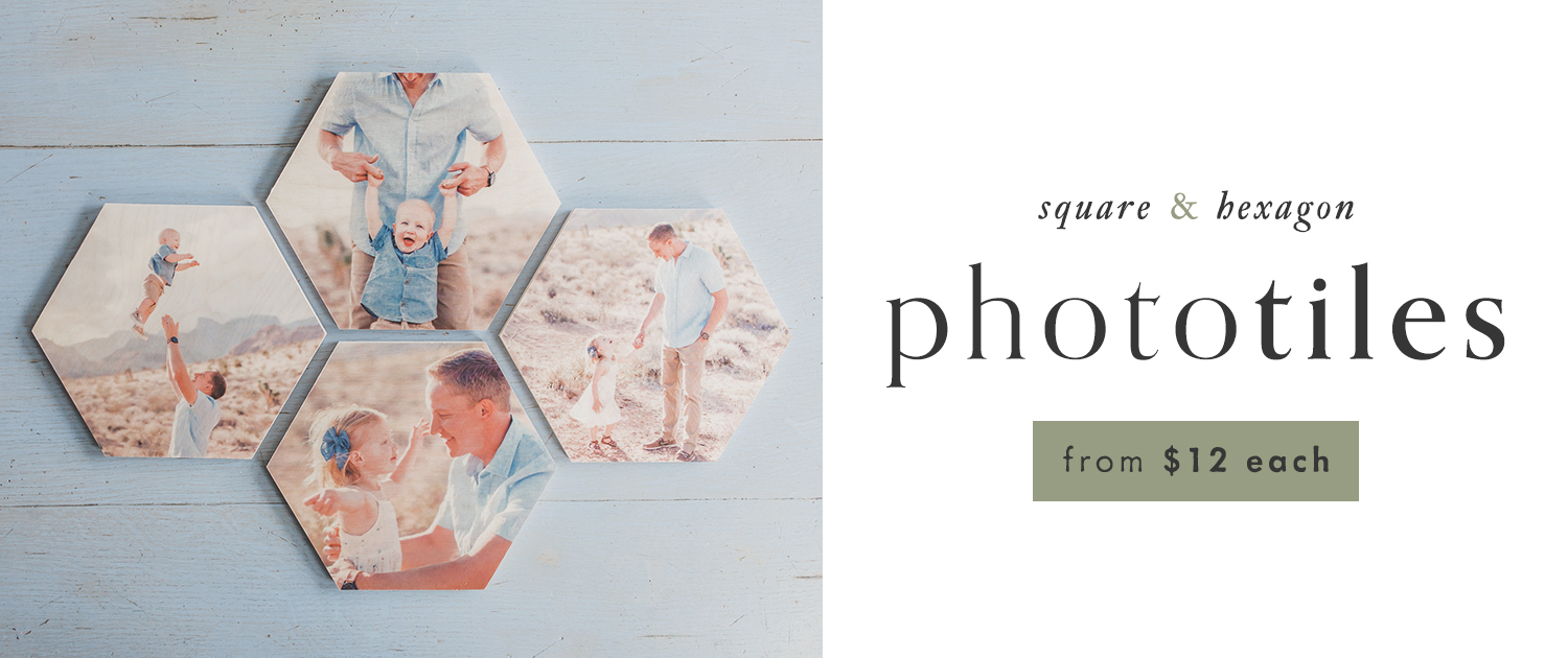 PhotoTiles | Square and Hexagon | From $12 each