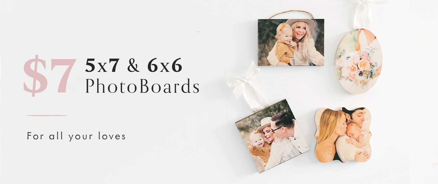 $7 5x7 and 6x6 PhotoBoards | For all your loves