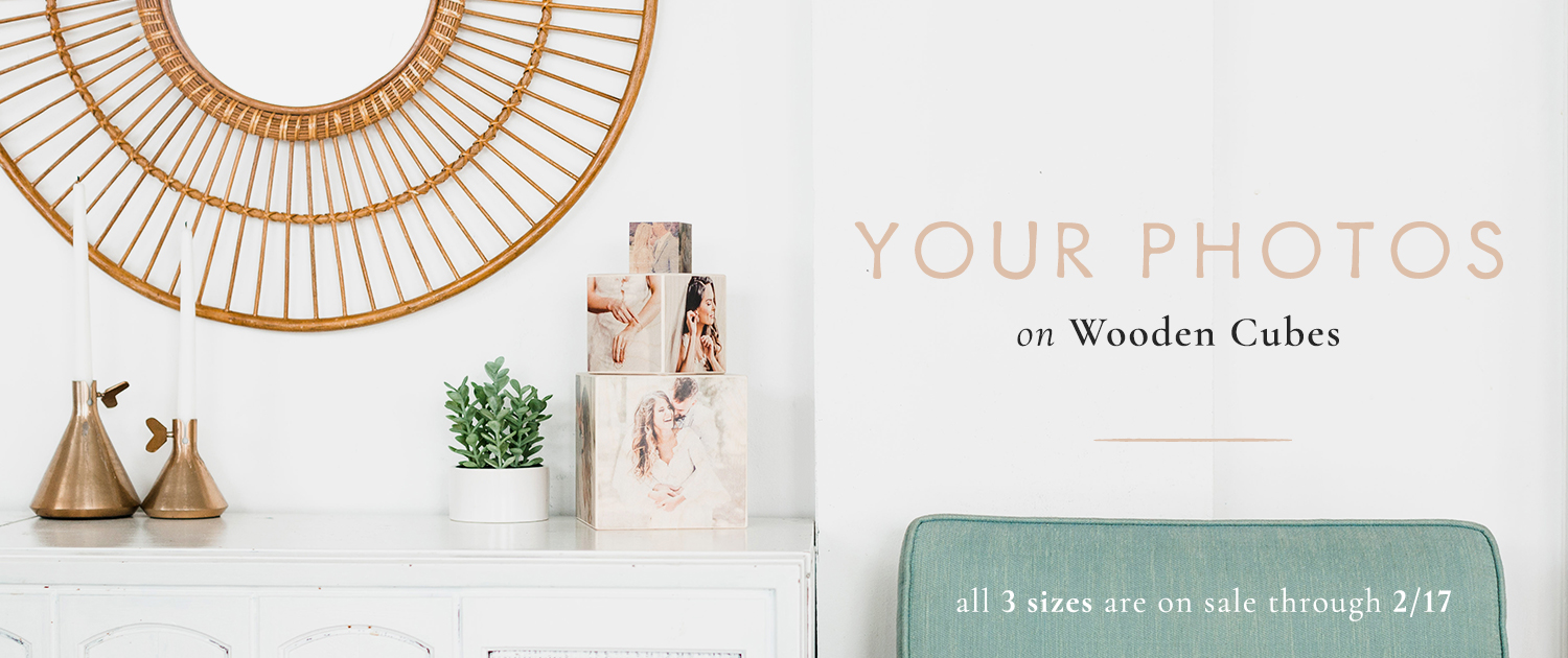 Your photos on wooden cubes | All 3 sizes are on sale through 2/17