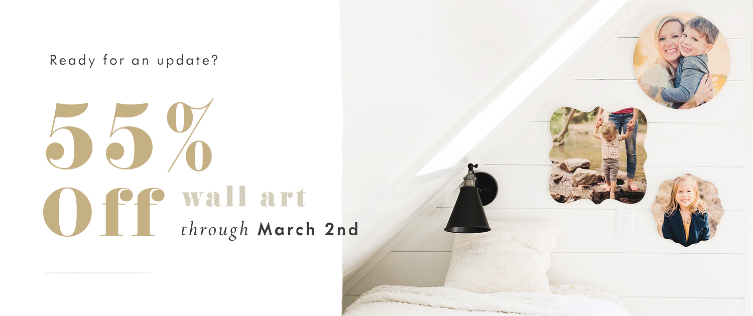Ready for an update? | 55% off Wall Art through March 2nd