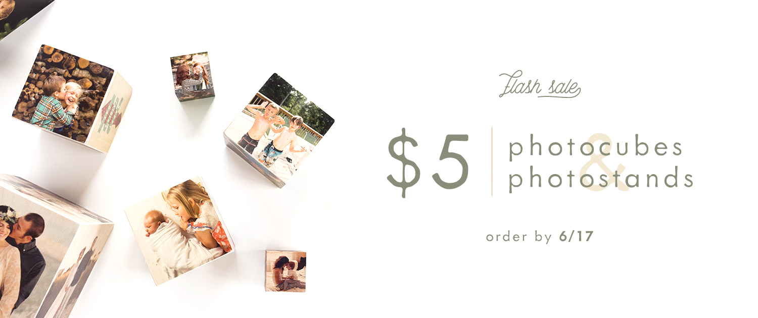 $5 PhotoCubes and PhotoStands Flash Sale | Order by 6/17