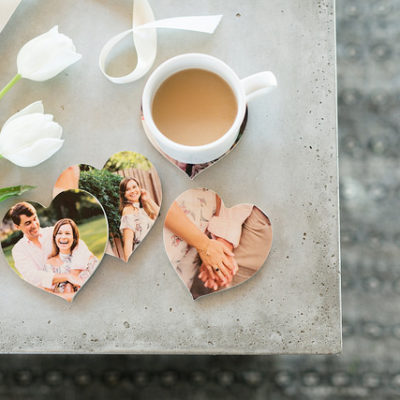Wooden Photo Coasters