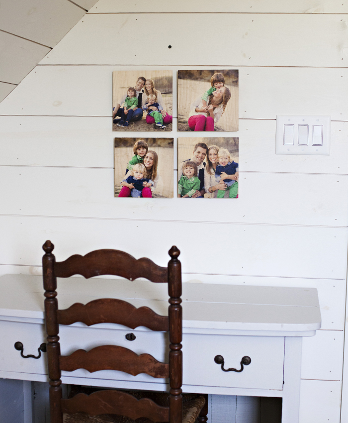 Pictured above: 4 Piece 12×12 Standout Wood Print Grid Printed images by @molliejanephotography