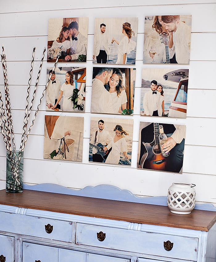 Pictured above: 12×12 9 piece Standout Wood Print Grid Printed images by @shannonelizabeths