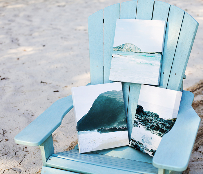 Pictured above: 3 – 11×14 Canvas Gallery Wraps, 1.5″ thick. Printed images by @shannonelizabeths
