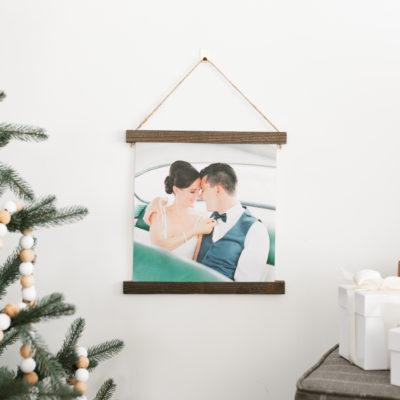 8x8 Burlap Hanging Prints | $12 ($55)