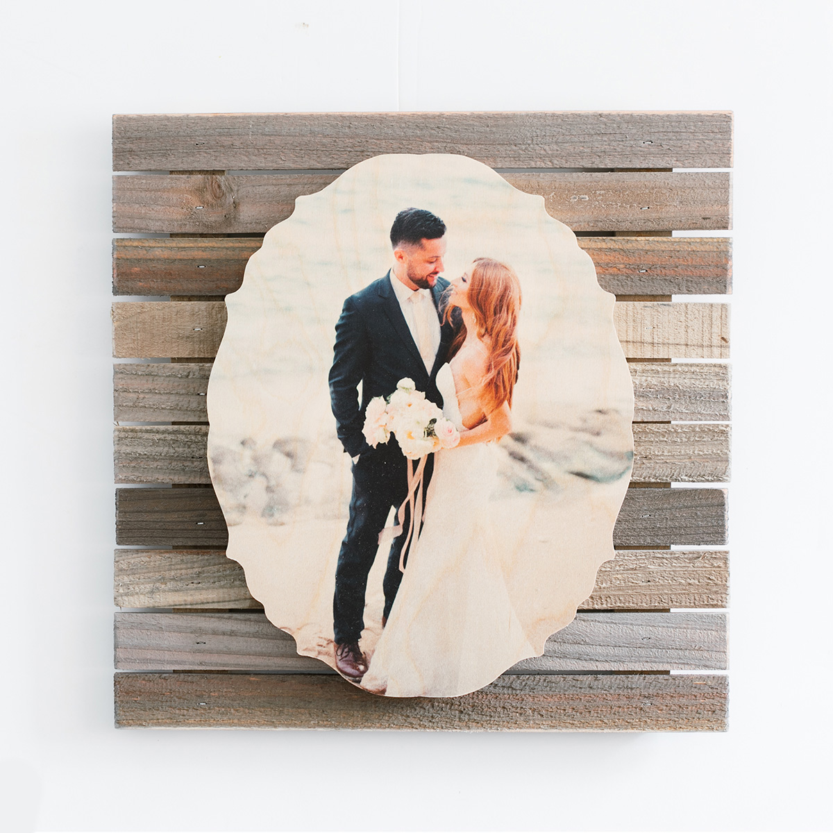 Shaped PhotoBoard with Pallet Mount