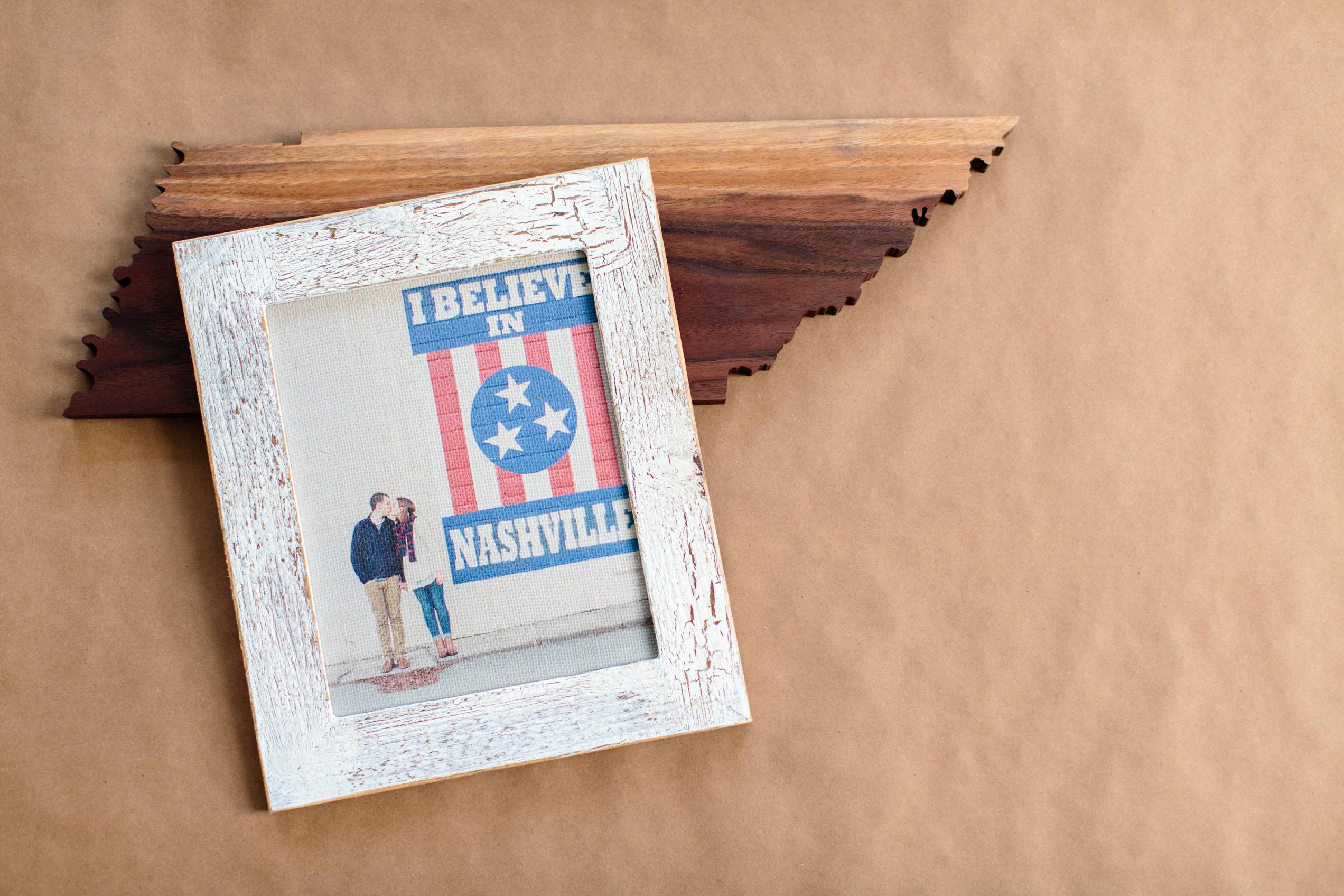 Framed Burlap Print