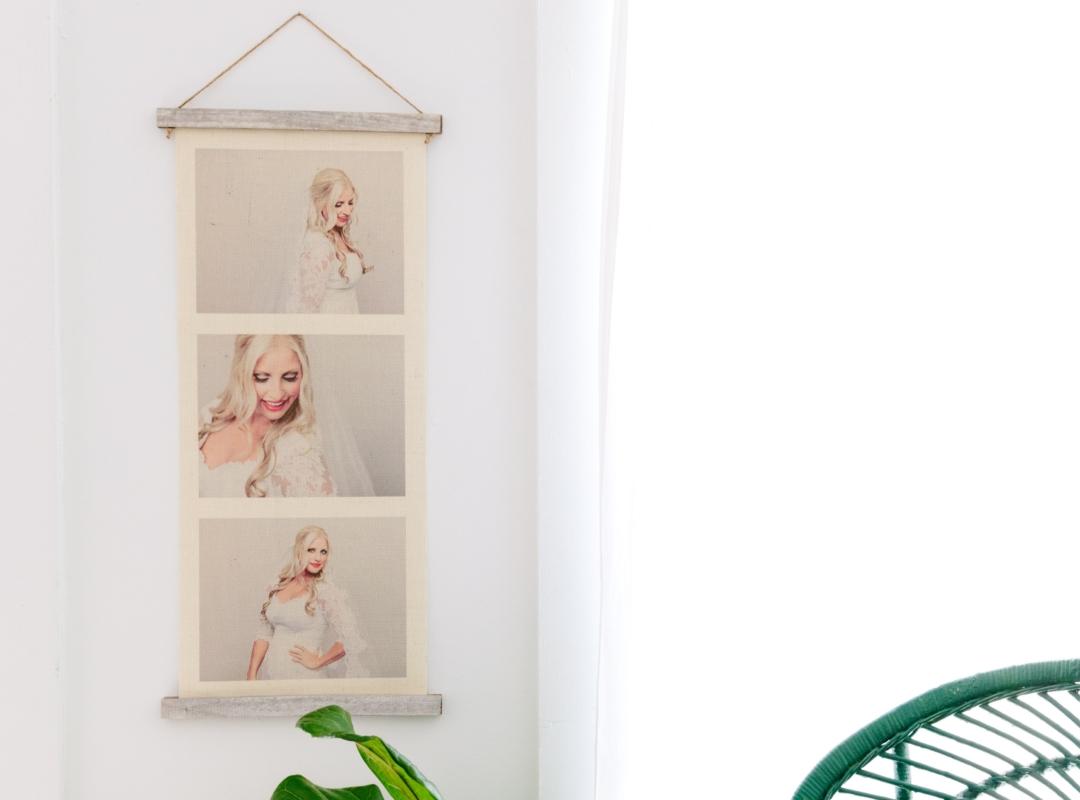 Burlap Hanging Print Collages