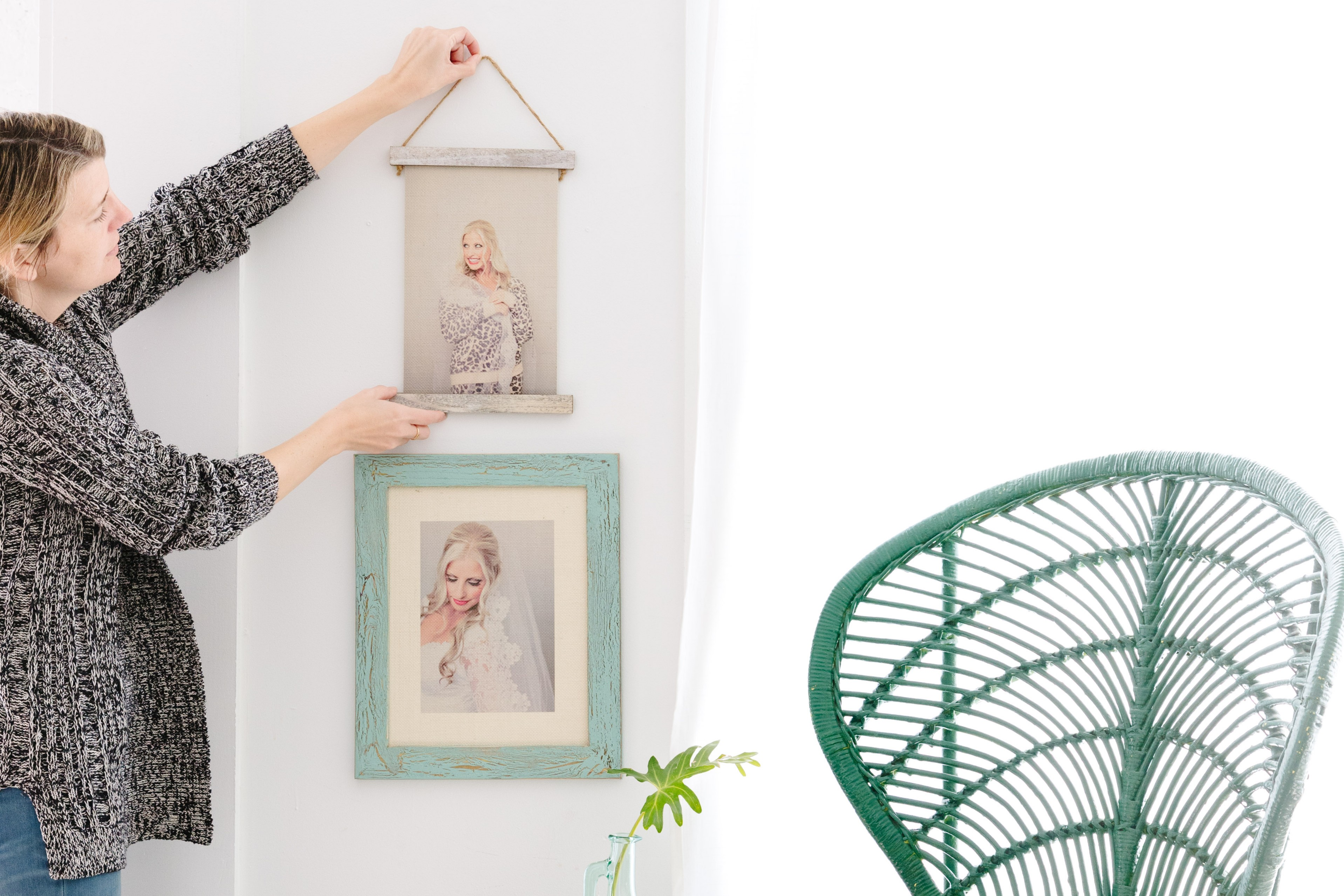 Burlap Hanging Print
