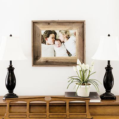 8x10 Framed Burlap Print | $15 ($60)