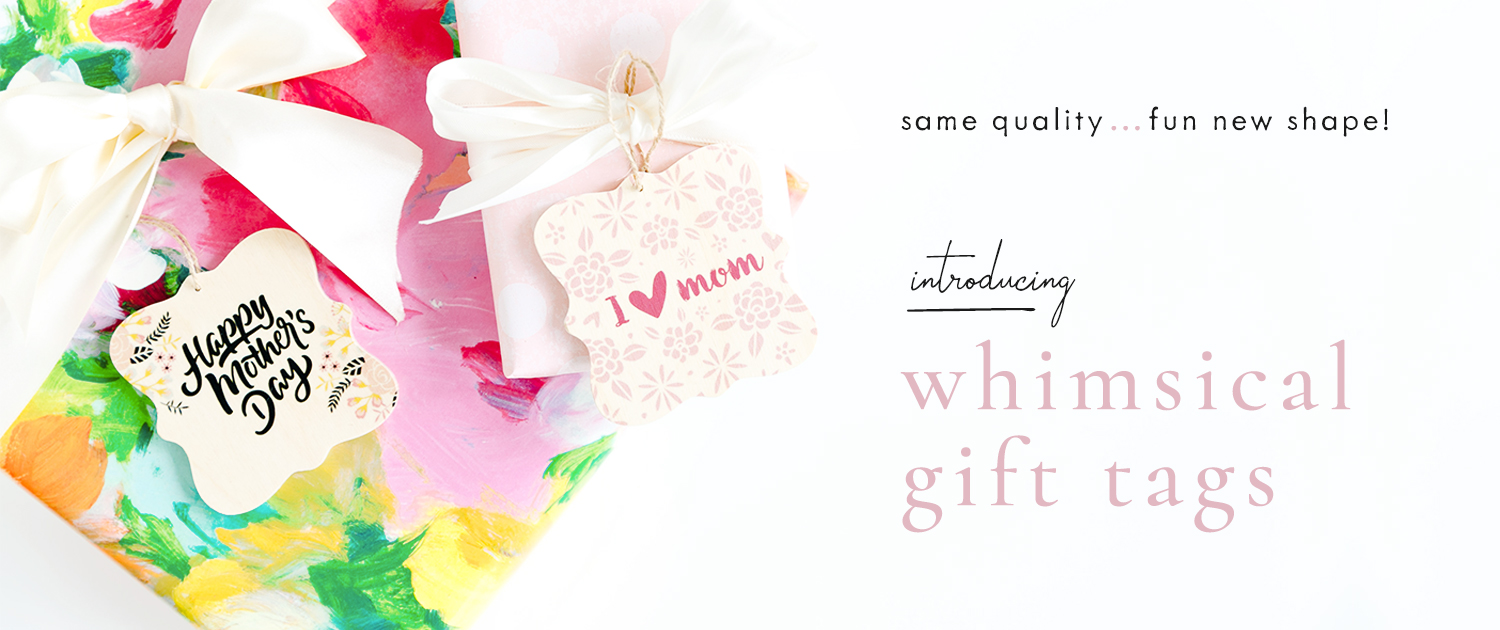 Same quality... fun new shape! Introducing Whimsical Gift Tags
