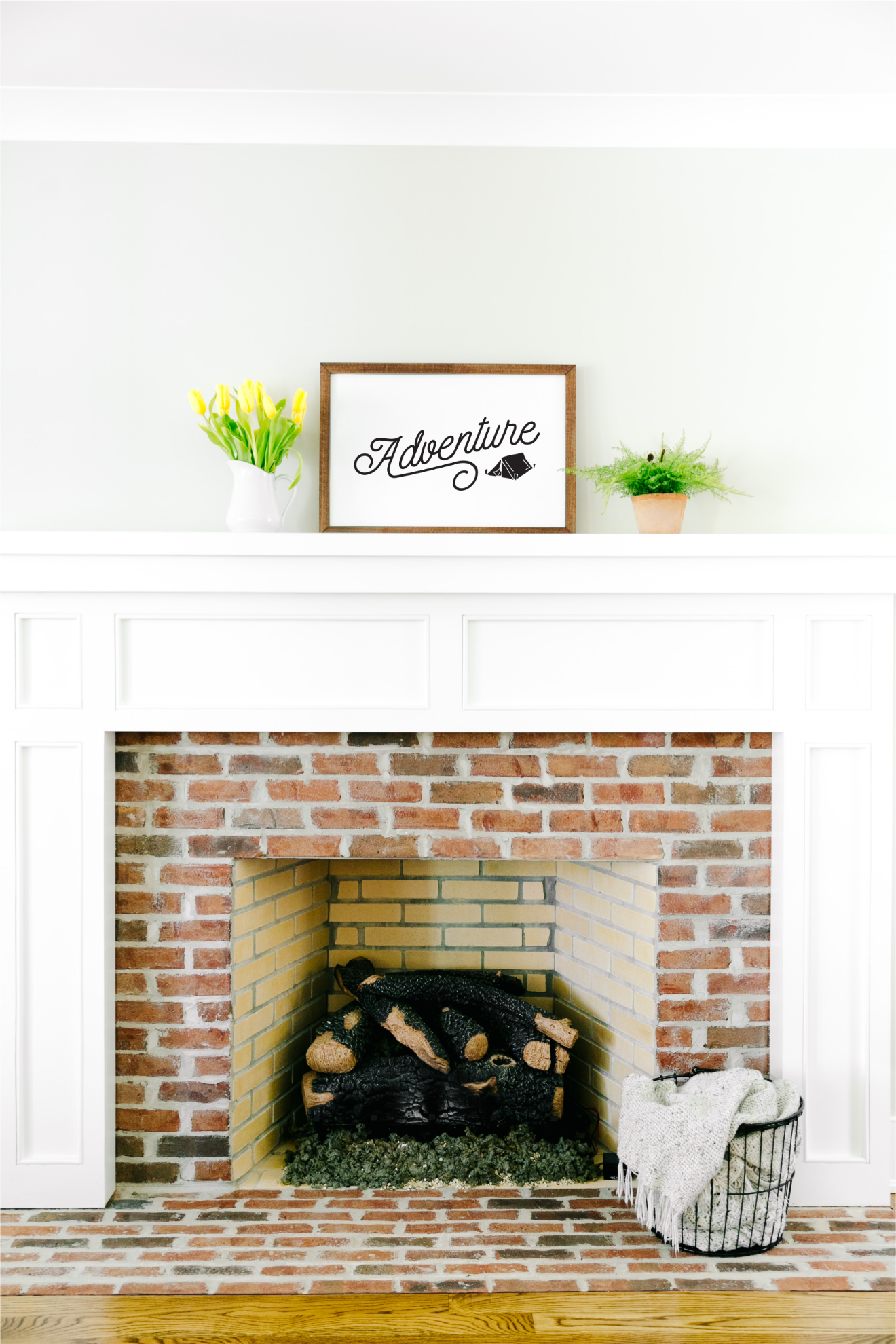 16×24 framed pearlboard sign mantel