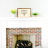 16×24 framed wood sign mantel