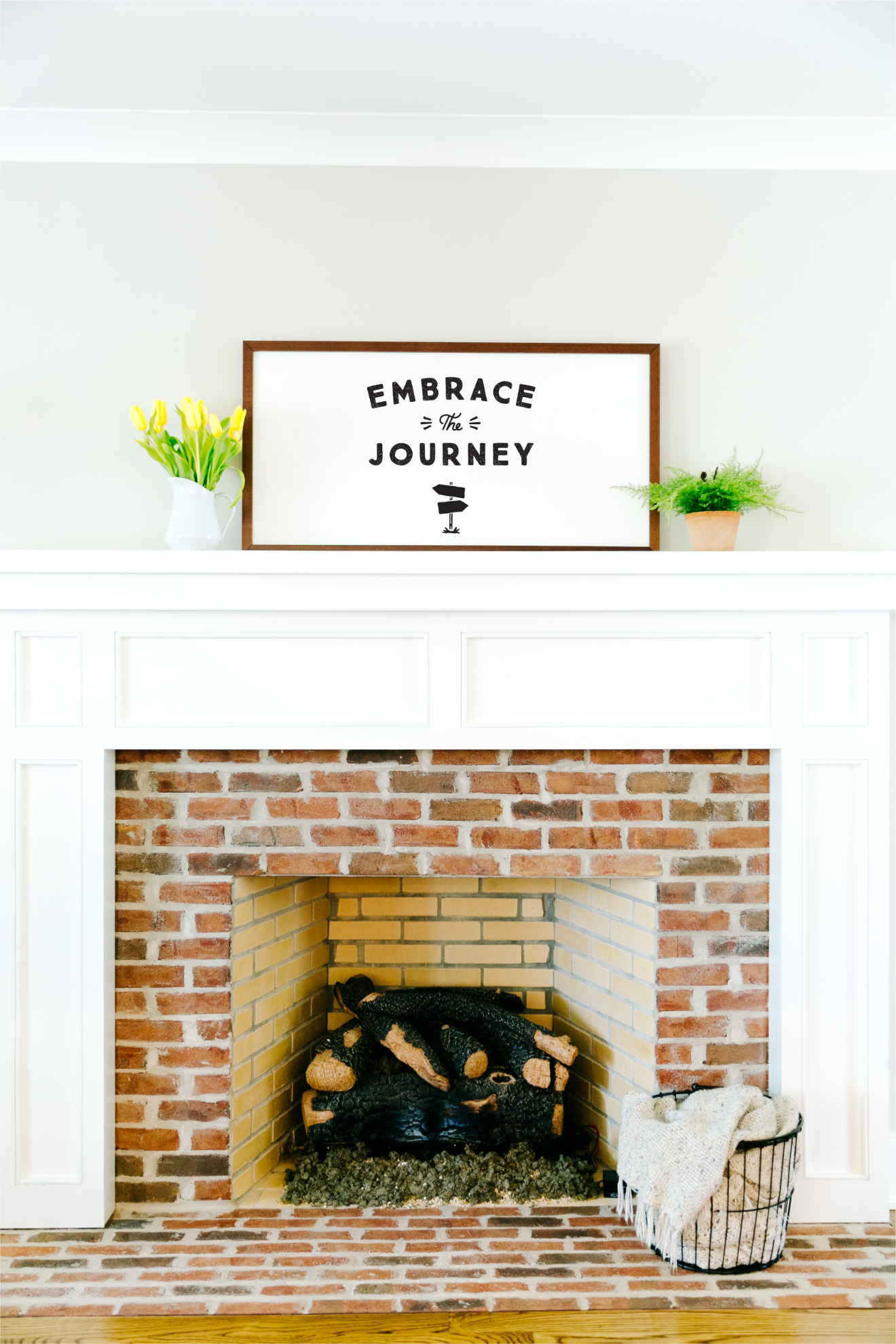 20×40 Framed Pearlboard Sign Mantel
