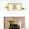 20×40 Framed Wood Sign Mantel