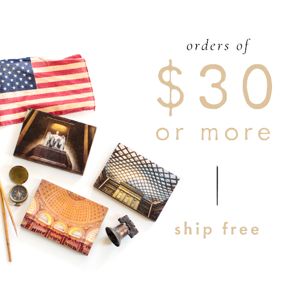 Orders of $30 or more ship free