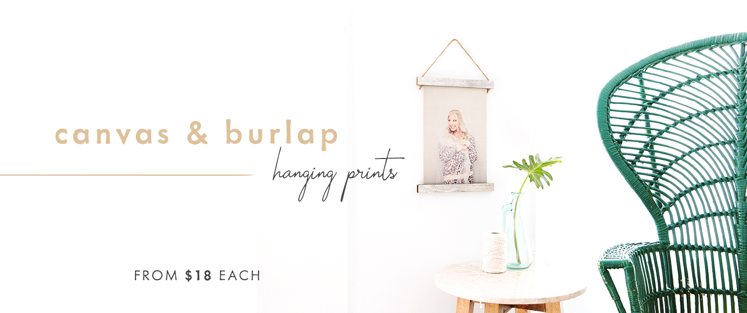 Canvas and Burlap Hanging Prints | from $18 each