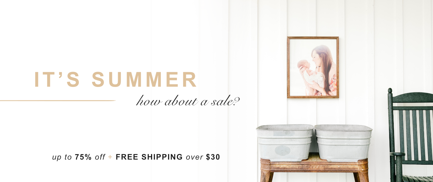 It's Summer! How about a sale? Up to 75% | Free shipping over $30