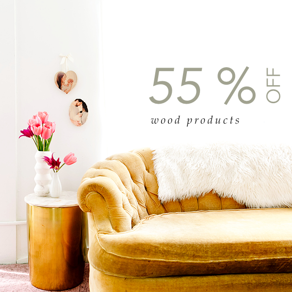 55% off all wood products