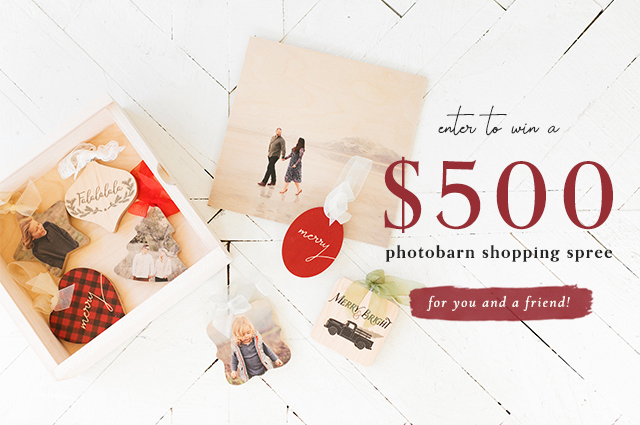 Enter to win a $500 PhotoBarn Shopping Spree for you AND a friend!