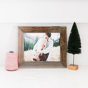 8x10 Framed Wood Print