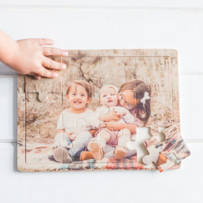 12-piece Wooden Photo Puzzle