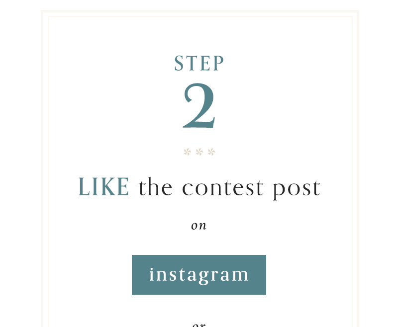 2) Like the contest post on Instagram