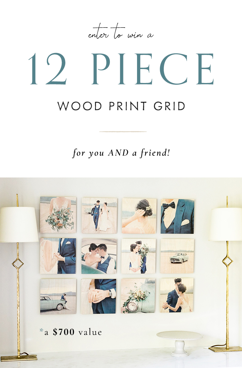 Enter to win a 12 Piece Wood Print Grid (a $700 value) for you AND a friend!