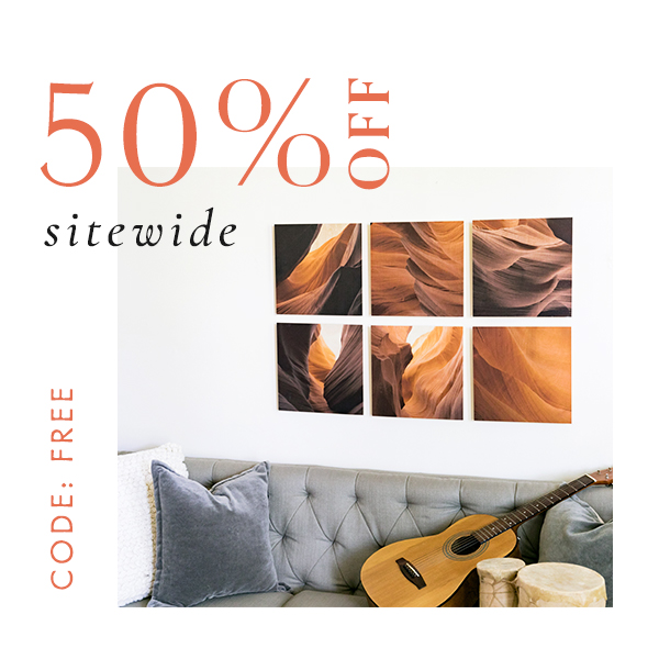 Sitewide 50% off   code FREE