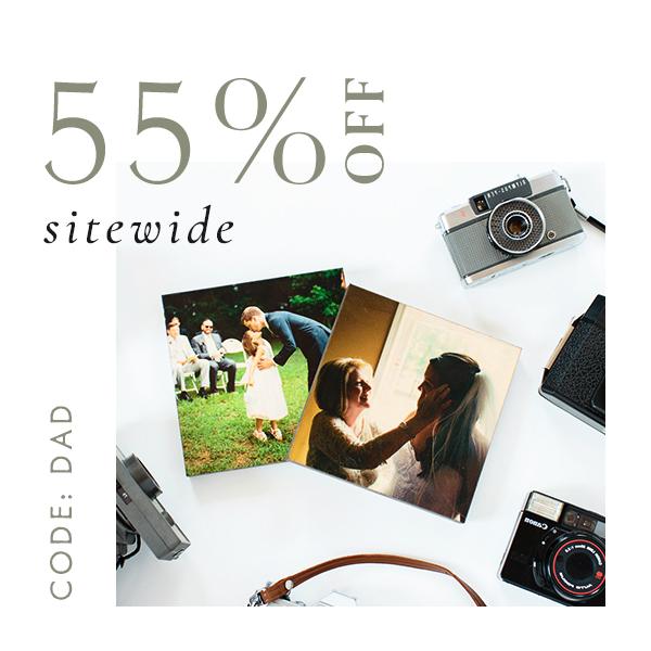 Sitewide 55% off   code DAD