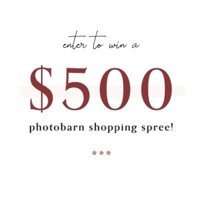 Enter to win a $500 PhotoBarn Shopping Spree