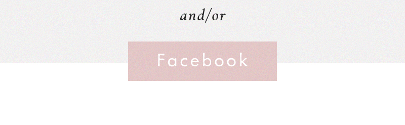 and/or Facebook