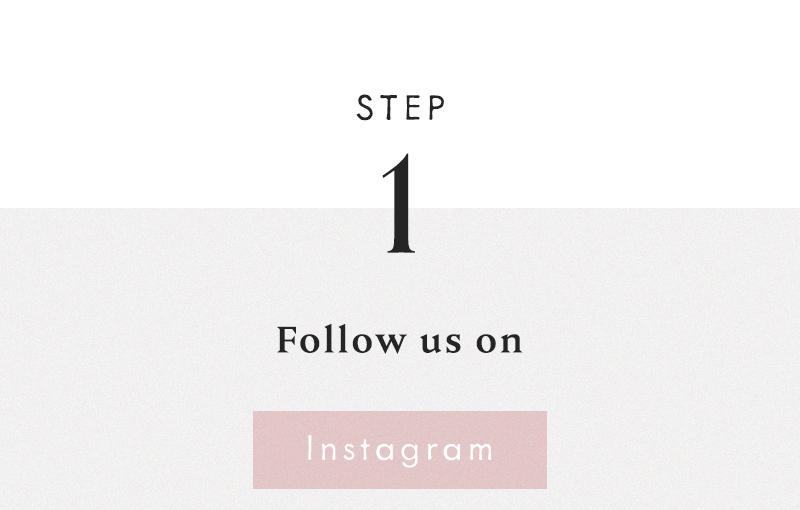 1) Follow us on Instagram